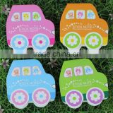 car shape kids sticky note