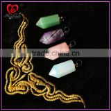 Stone Quartz Point Pendant Cheaps Edge Natural Quartz Crystal Pendant, Druzy Gem Stone Pendant Charms, Jewelry Making 2015