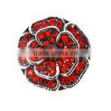 Hot Selling 18mm Red Crystal Rose Snap Button For Interchangeable Jewelry