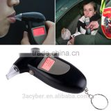 Digital LCD Breath Analyzer Breathalyzer Alcohol Tester Keychain Audible Alert