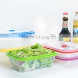 hot selling high quality collapsible food storage ,silicone fresh container,picnic lunch box