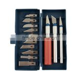 16Pcs/set Wood Carving Knife 3 Aluminum Hilt + 13 Knives Blade Hand Tools