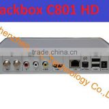 2014 Newest Singapore hd BLACKBOX C801 HD open HD channels,digital cable tv set top box with wifi