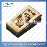 high grade 3D Dollars sign metal gold money clip