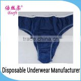 Blue Seduction Disposable Paper Underwear Elastic Band for Underwear