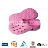 2016 popular good price hot sale pink holey durable plastic traditional wide clogs dillards