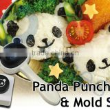 kitchenware bento decoration tools rice cooker rice ball maker molds lunch box gift seaweed puncher Panda Punch & Mold Set