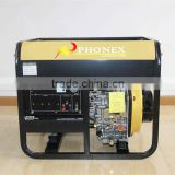 China PHONEX Air Cooled Four Stroke Power Master Generators Diesel 5kVA