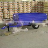 0.5T ATV tipper Trailer with hydraulic, tipping dump trailer suit tractor for sale, forest wood log trailer with crane