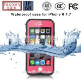 for iphone6 waterproof case IP68 certified waterproof snowproof dirtpoof shock resistant protective case cover