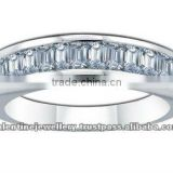 Enigma Baguette Diamond Ring, 18K White Gold, 0.94 ct total diamond weight