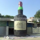 new design inflatable champagne bottle/ inflatable beer bottle for advertising