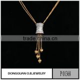 Two tone color funny necklace fake diamond pendant