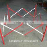 Folding Square Metal Traffic Barrier retractable Manhole Barrier expandable Road Safety Barrier