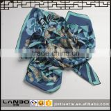 2016 latest fashion OEM Customized Design Digital Printed Silk Woven square Scarf for women
