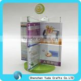 table top rotating display stand acrylic sign holder unique design cheap high quality for mobile shop