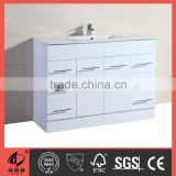 White single vessel sink top MDF bathroom furniture set 500008