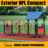 exterior hpl compact laminate for park furniture / exterior hpl laminate for sports facilities