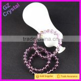 Genuine Natural Brazil Purple Amethyst Quartz Crystal Round Beads Stretch Bracelet