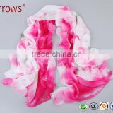 Pink Rose Silk Twill Scarves Print Women Scarf Handmade Wrap Shawl Chiffon Large Cheap Price