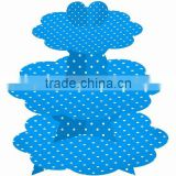 3 Tier Cardboard Blue & White Polka Dot 3 Tier Cupcake Stand Cup Cake Stand Cupcake Stand Holder Tower Tree Pink Polkadots