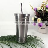 16oz customer logo insulated tumbler travel mug double wall vacuum stainless steel water bottle coffe mug with lid