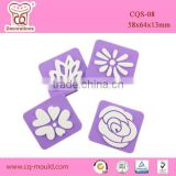 New flower design foam fondant cake decorating tools cake stamp for wholesale