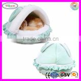F151 Washed Detachable Soft Small Kitty Pets Bed Sleeping House Cute With Warm Plush Pad Cat Box