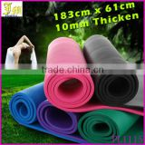 New Design Extra Thick 10 mm Non-Slip Yoga Mat Exercise Fitness Lose Weight Eco-friendly NBR Yoga Mat