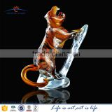 life size ornament tiger animal statues; glass tiger sculpture figurine; glass gift for men