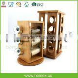 Revolving Bamboo Spice Rack Set/Homex_FSC/BSCI Factory