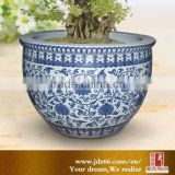 Chinese style excellent quality blue pottery bonsai pots for garden decor
