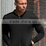 Bomber Jacket Wholesale Men Stylish Slim Fit Jackets Blackout Lightweight Full Zipper Jacket Black Winter Jacket