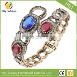 Antique Gold Vintage Bangles Bracelets Female Accessories Fashion Turkish Jewelry Metal Resin Bracelet