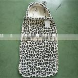 printed black and white leopard print Coral Fleece leopard print children hooded Blanket