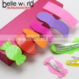 Wholesale Mix Color Assorted Plastic Coated Baby Bow Snap Hair Clips