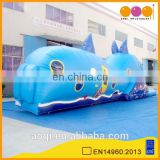 AOQI products durable PVC interesting whale inflated tunnel for kids