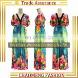 5073# Sundresses Women Summer Casual Boho Floral Maxi Dress Woman Long Bohemian Beach Plus Size Women Clothing