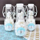 Personalized Monogram Mini Glass Bottle