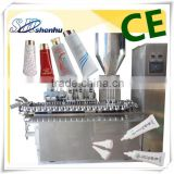 plastic tube metallic tube silica gel filling and capping machine