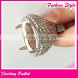 Indonesia laki-laki ring wholesale gold color stainless steel men rings with gemstone ring base