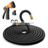 50 Ft Expandable Garden Hose Extra Strength Fabric,Double Latex Core,3/4 Snake Magic Pocket Water Hoses 8 Pattern Spray Nozzle