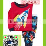 unisex wholesale cotton pajamas baby clothes sexy lingerie rocket print pajamas MY-A0063