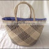 High quality best selling New collection seagrass shopping bag with handles from vietnam