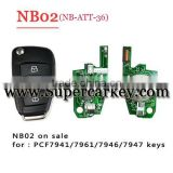 2016 Newest NB02 3 button remote key with NB-ATT-36 model for KD900/URG200 machine with best quality