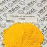 Medium Chrome Yellow Coated(P.Y. 34)/ pigment yellow for paints Coated Middle Chrome Yellow for road mark painting