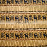 animal deer print yellow fleece blanket