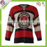 breathable sublimation custom hockey jersey suits 100% polyester dry fit