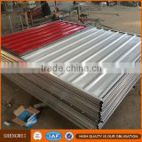 Easily assembled portable temporary construction site hoarding fence