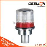 high quality solar beacon warning light for tower and cone with pc shell alluminum alloy handle
